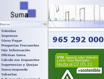 Pago Impuestos Suma vecinos Poble Nou Benitachell Alicante