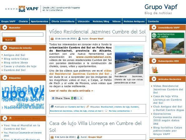 Nuevo Blog Grupo VAPF