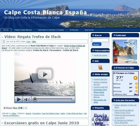 Presentación Blog Calp/Calpe (Alicante)