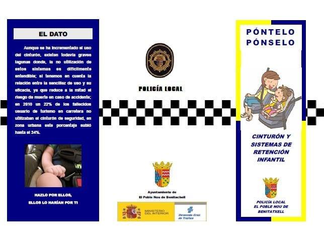 Campaña de Seguridad Vial en Poble Nou de Benitatxell