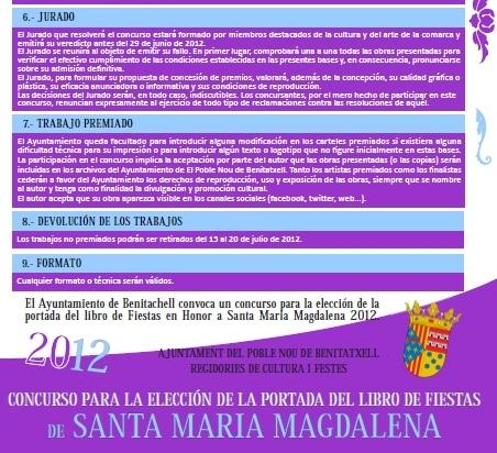 Concurso Carteles y Portada Programa Fiestas Benitachell