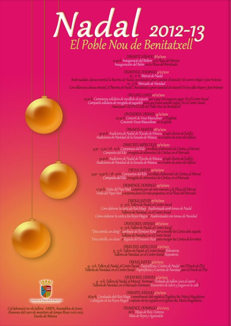 Programa de Actos para celebrar la Navidad 2012-2013