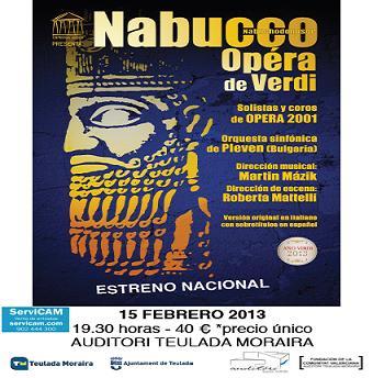 """Ópera en Auditori Teulada-Moraira """"Nabucco de Verdi"""""""