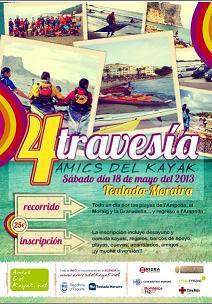 IV Travesía en Kayak sábado 18 de Mayo