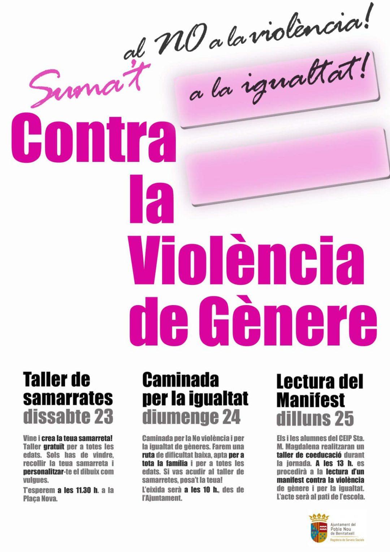 Actos Organizados en Benitachell contra la violencia de género