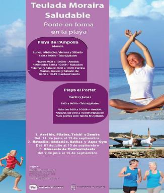 Deporte en la Playa de L'Ampolla y del Portet en Moraira