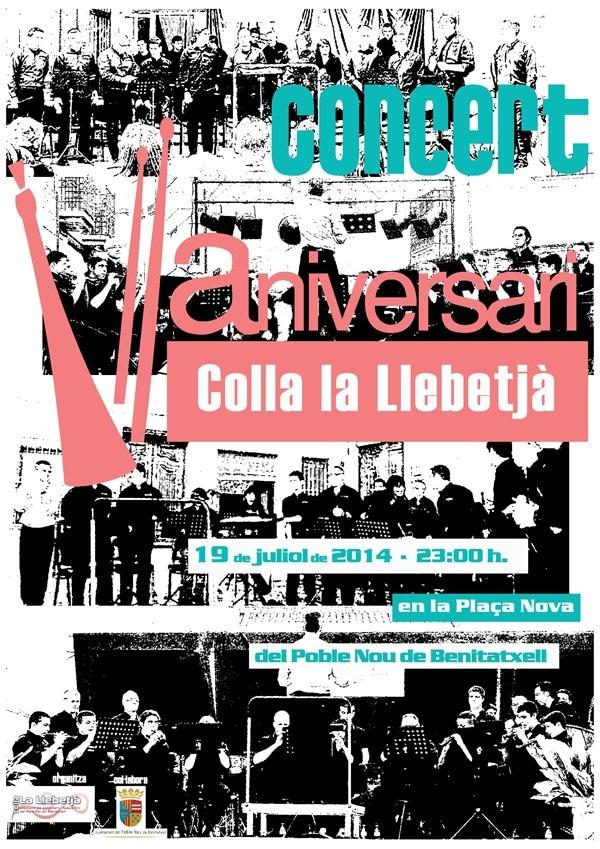 Concierto para celebrar el quinto aniversario de la Colla La Llebetjà