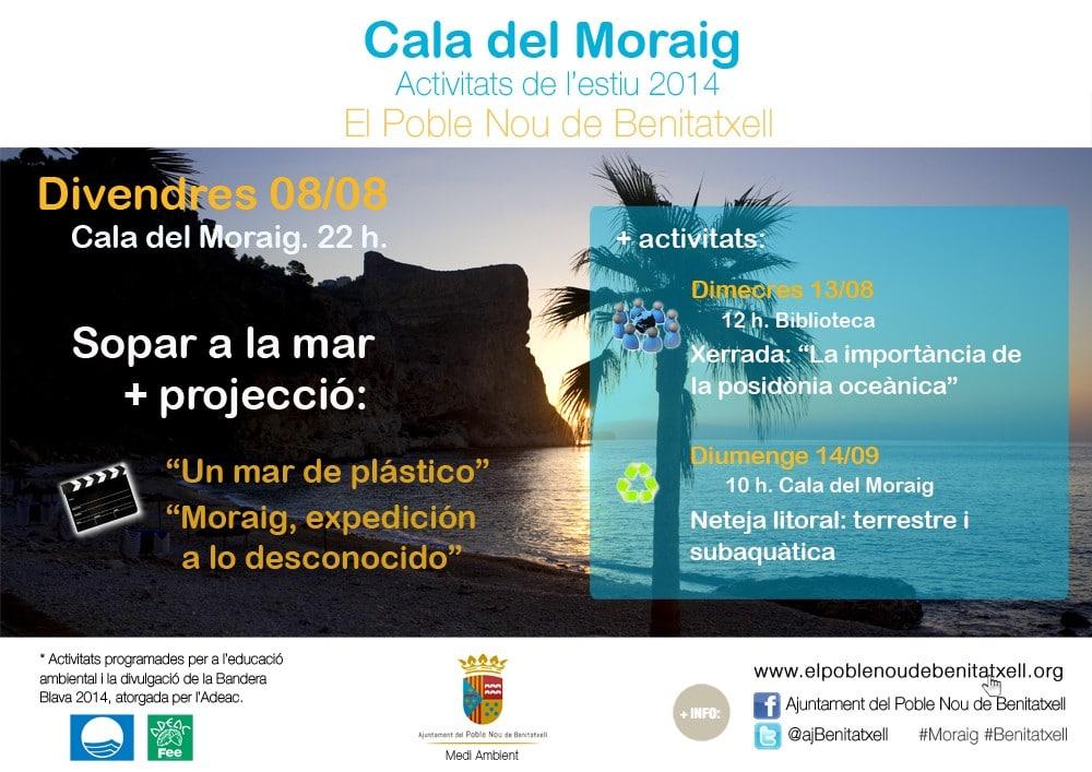 Jornada limpieza del litoral en Benitatxell domingo 14 de septiembre