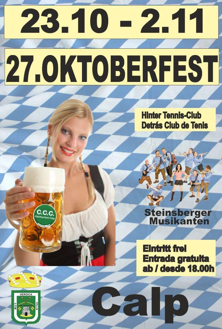 Oktoberfest Calpe 2014 del 23 de octubre al 2 de noviembre