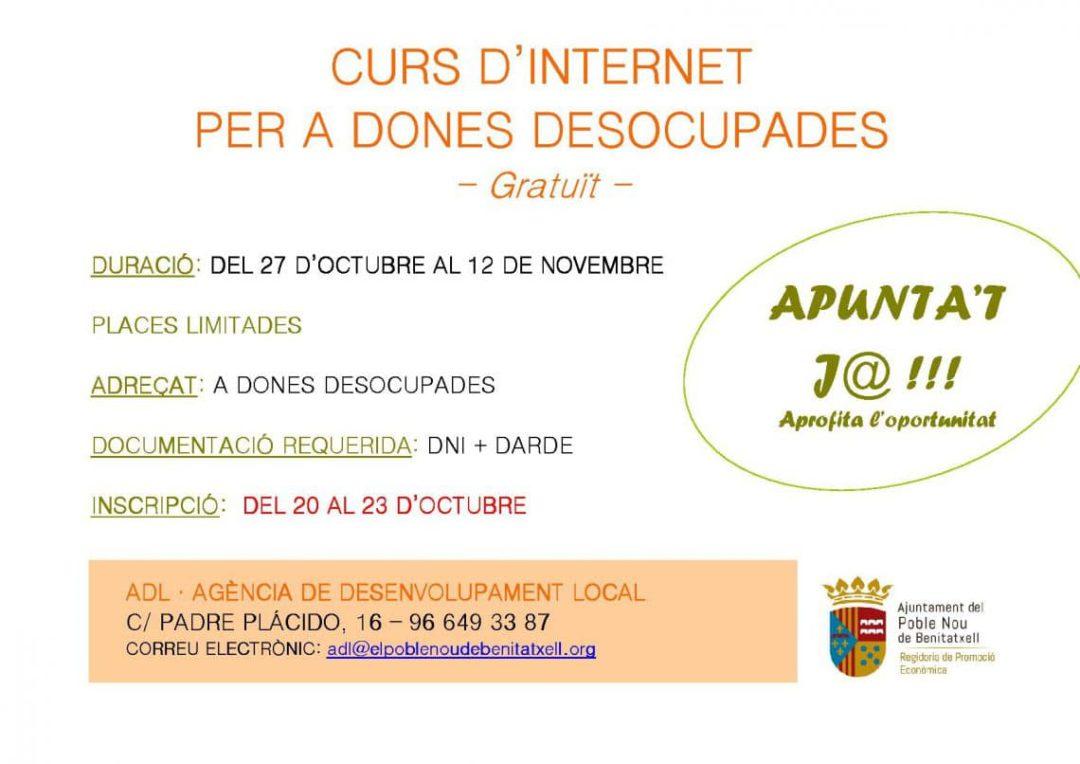Curso gratuito sobre internet para mujeres desempleadas