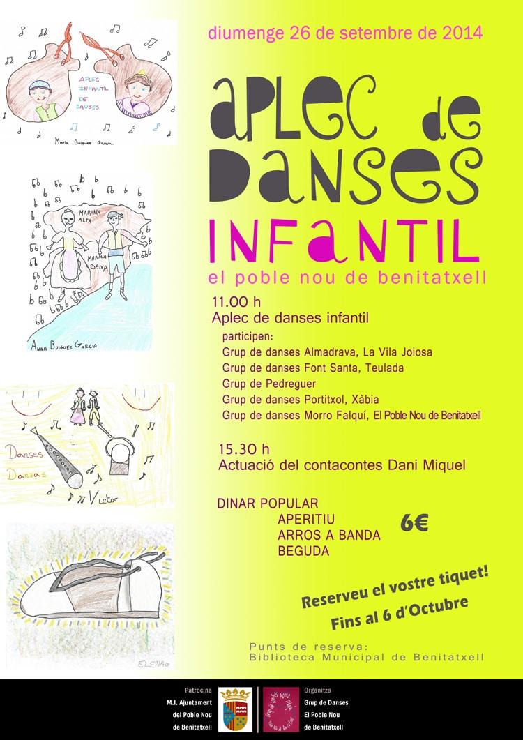 I Encuentro de danzas infantiles en Benitatxell el domingo 26 de octubre de 2014