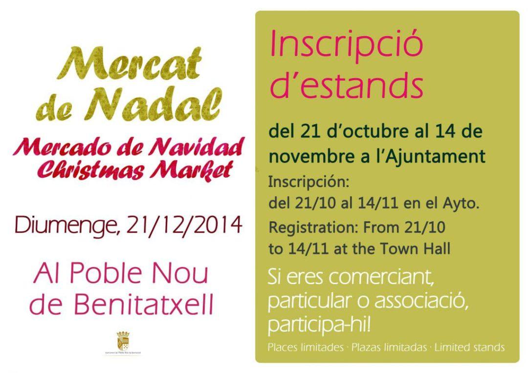 Abierto el plazo de solicitud de stand para el mercado de navidad de Benitatxell