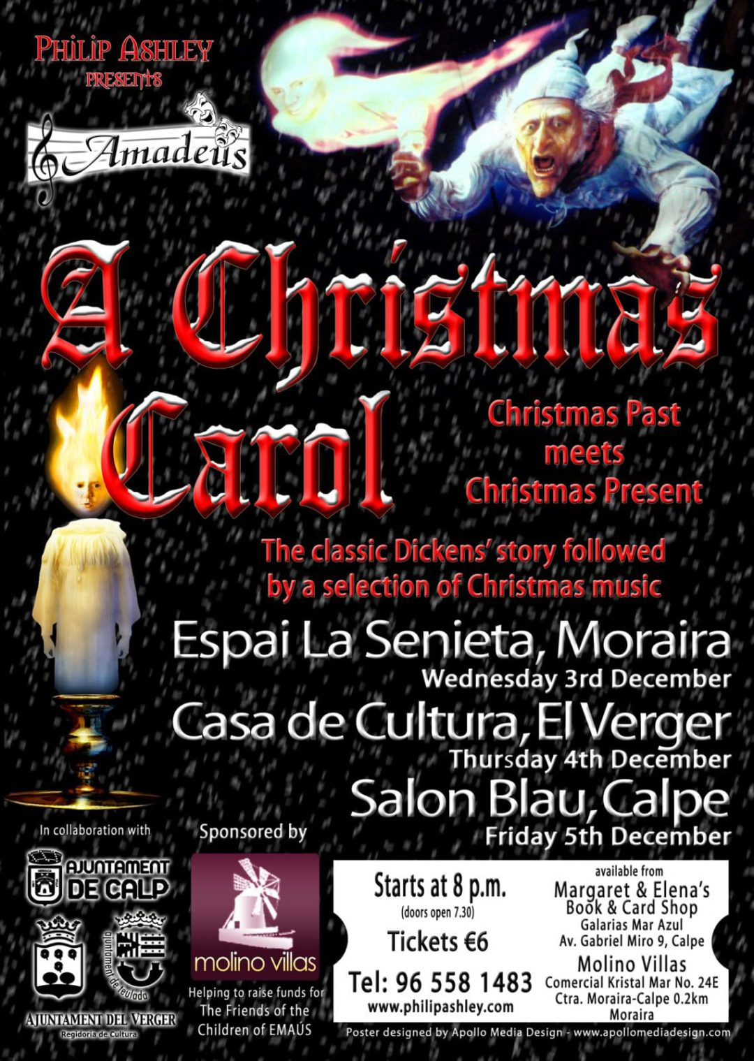 "Philip Ashley presenta ""A Christmas Carol"" en Moraira"