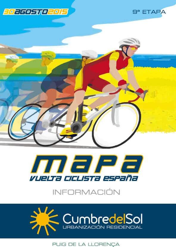 Vuelta Ciclista España- Mapa itinerario Cumbre del Sol- Poble Nou de Benitatxell