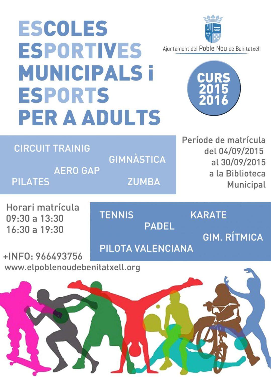 Abierto Plazo Inscripción a la oferta deportiva de Benitatxell