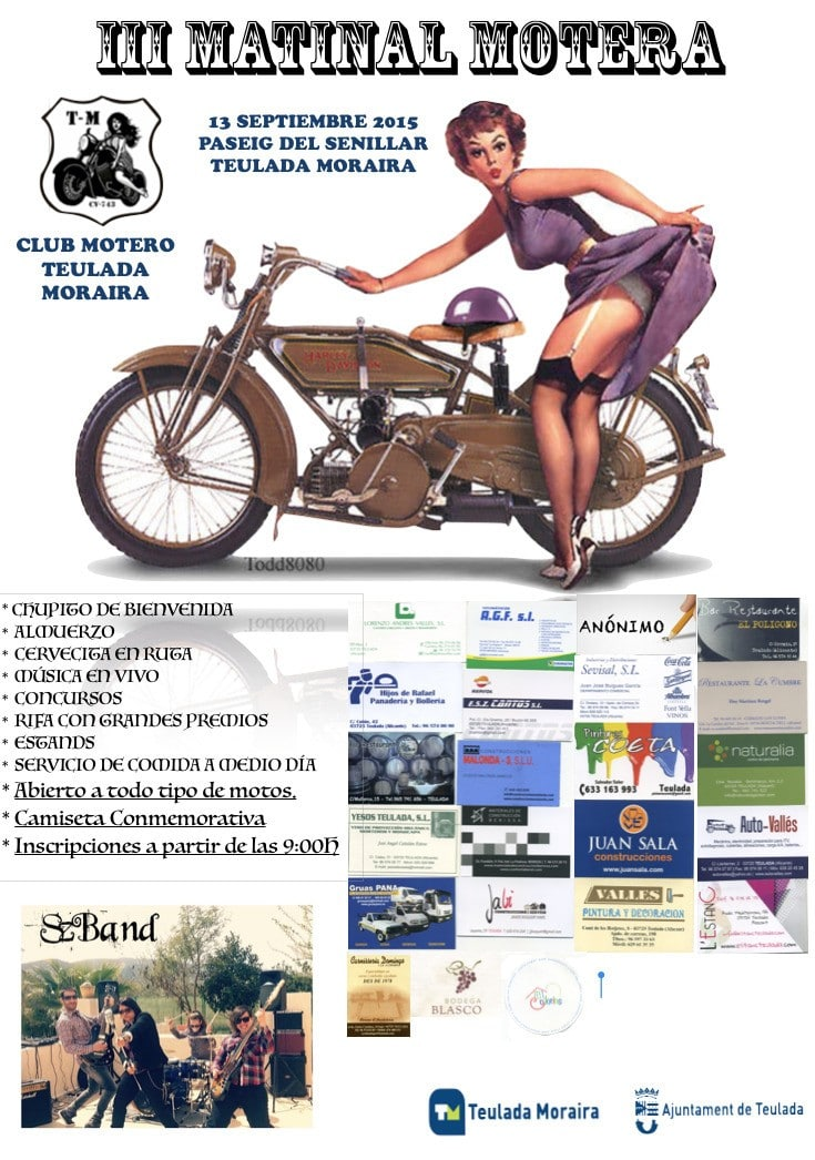 III Matinal Motera en Moraira el 13 de Septiembre 2015.