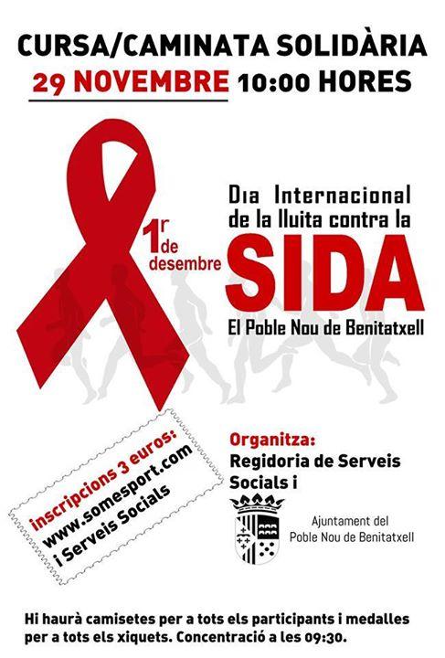 Caminata contra el sida en Benitatxell el 29 de Noviembre de 2015