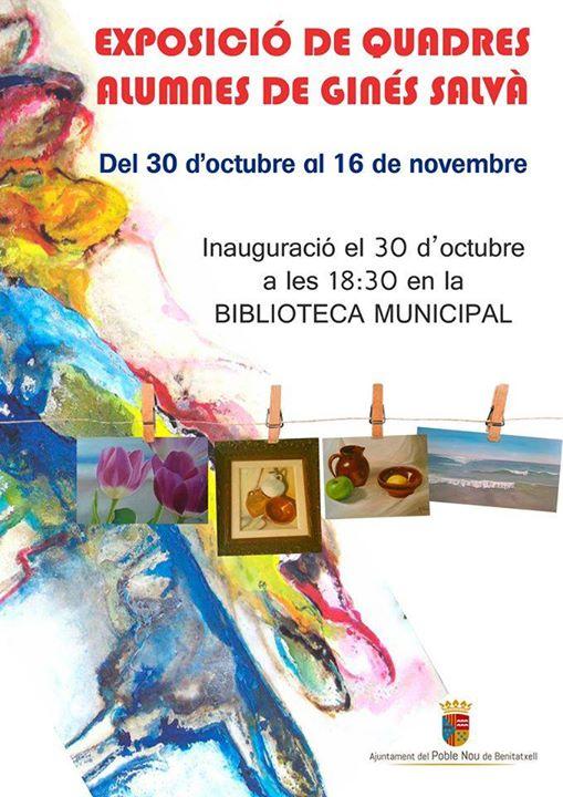 Exposición cuadros alumnos de Ginés Salvá