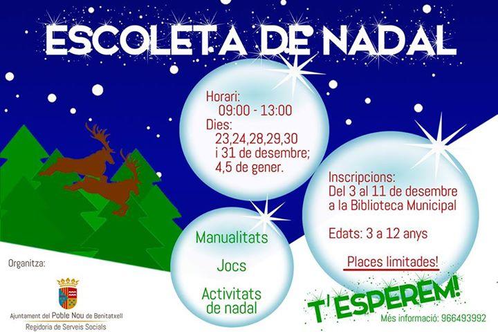 Escuela de navidad en Benitachell