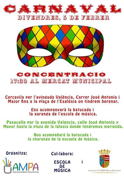 Carnaval en Benitatxell el 5 de febrero
