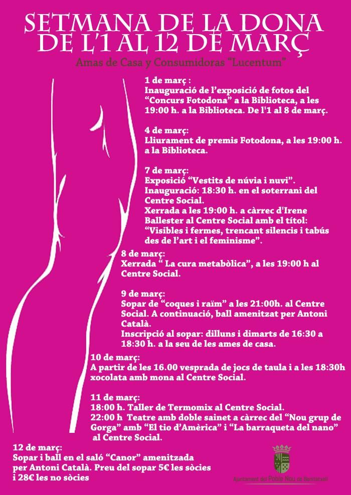 Semana de la mujer en Benitatxell