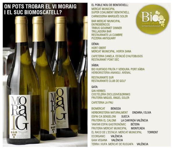 """Degustación nueva añada del vino blanco """"Moraig"""""""