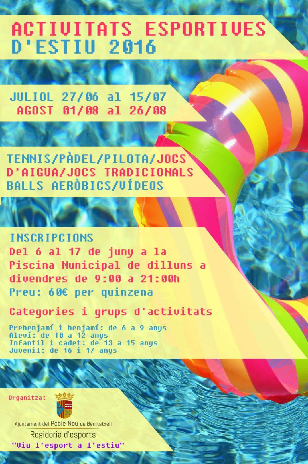 Actividades este verano para los más jóvenes en Benitatxell