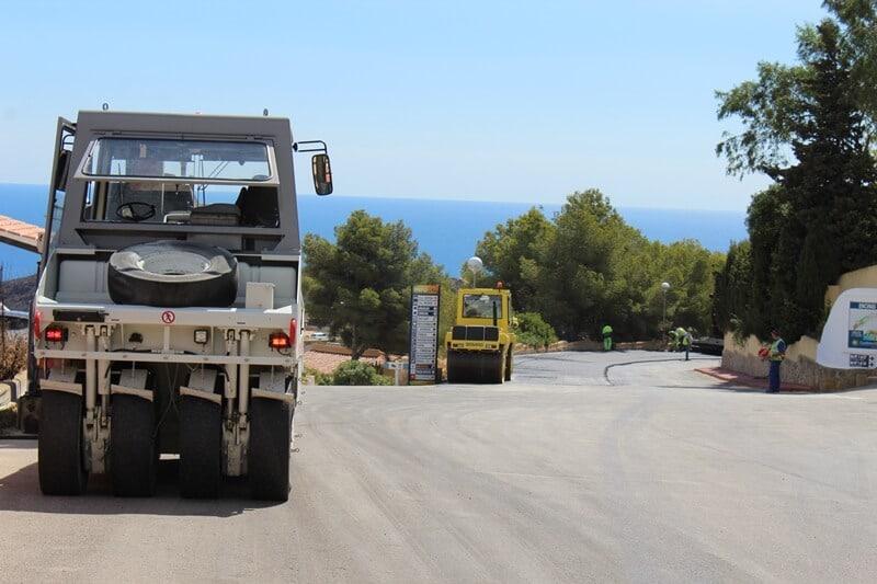 El ayuntamiento de Benitatxell envía un comunicado con los viales que asfaltará este año