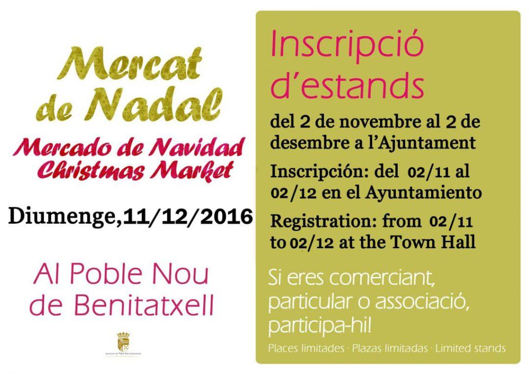 Mercado de navidad 2016 en Benitatxell
