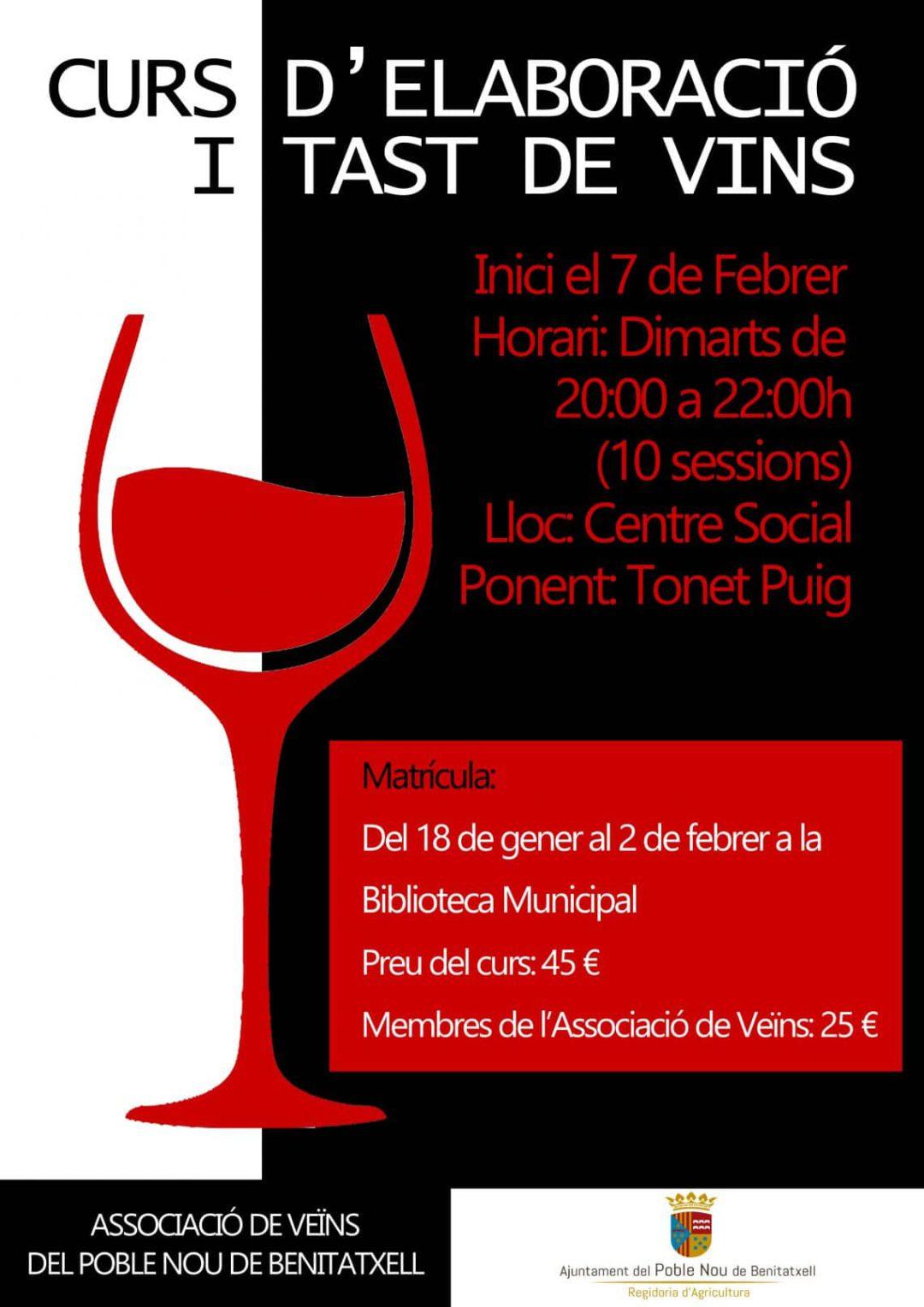 Curso de elaboración y cata de vinos en Benitatxell