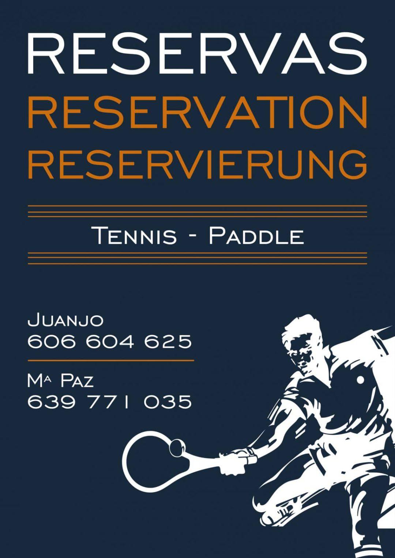 Reservieren Sie einen Padel- oder Tenniscourt