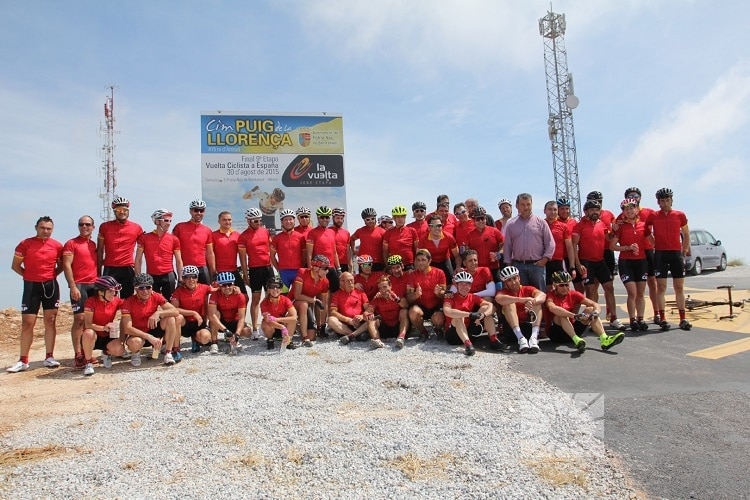 Radrennsportler testen Cumbre del Sol