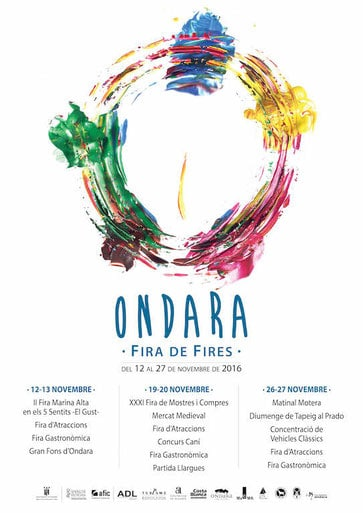 Feria en Ondara del 12 al 27 de Noviembre 2016