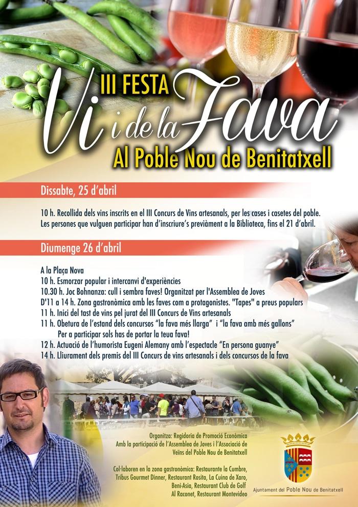 Fiesta del Vino y del Haba en Poble Nou de Benitatxell