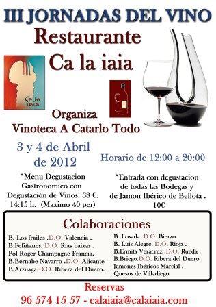 III Jornadas del Vino Restaurante Ca La Iaia