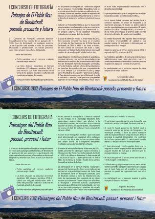 """Concurso Fotografía """"Paisajes El Poble Nou de Benitatxell"""""""