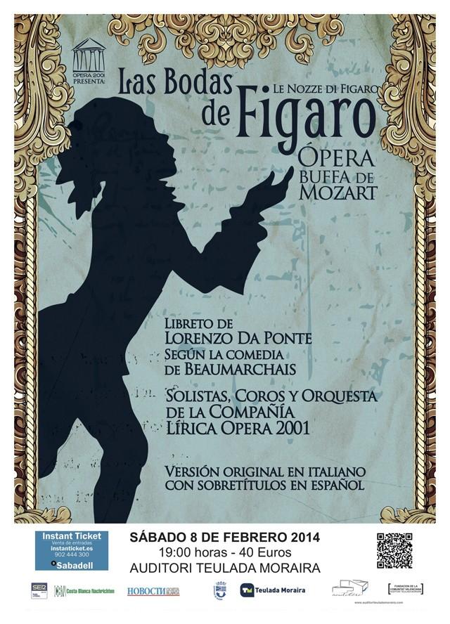 Ópera Las Bodas de Figaro en el Auditori Teulada-Moraira