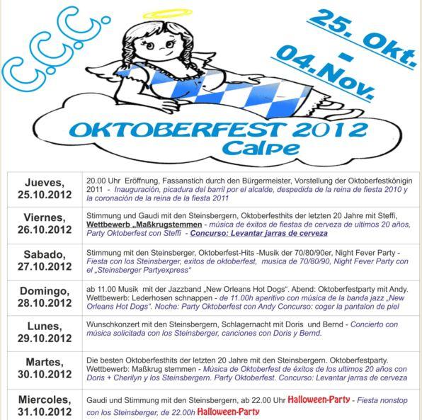Oktoberfest 2012 Calpe- Fiesta de la Cerveza