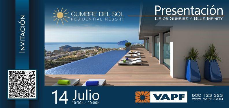 Grupo VAPF presenta el 14 de Julio Blue Infinity y Lirios Sunrise a los profesionales del sector inmobiliario