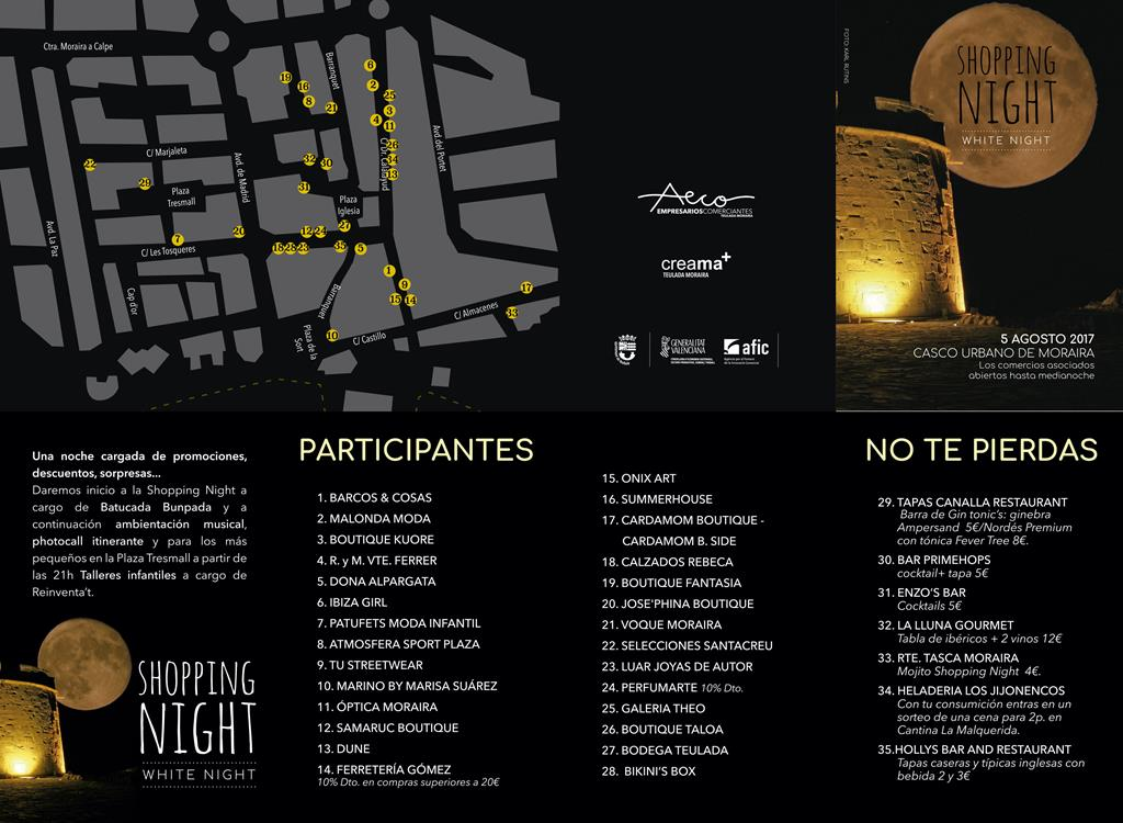 Shopping Night en Moraira  sábado 5 de agosto.