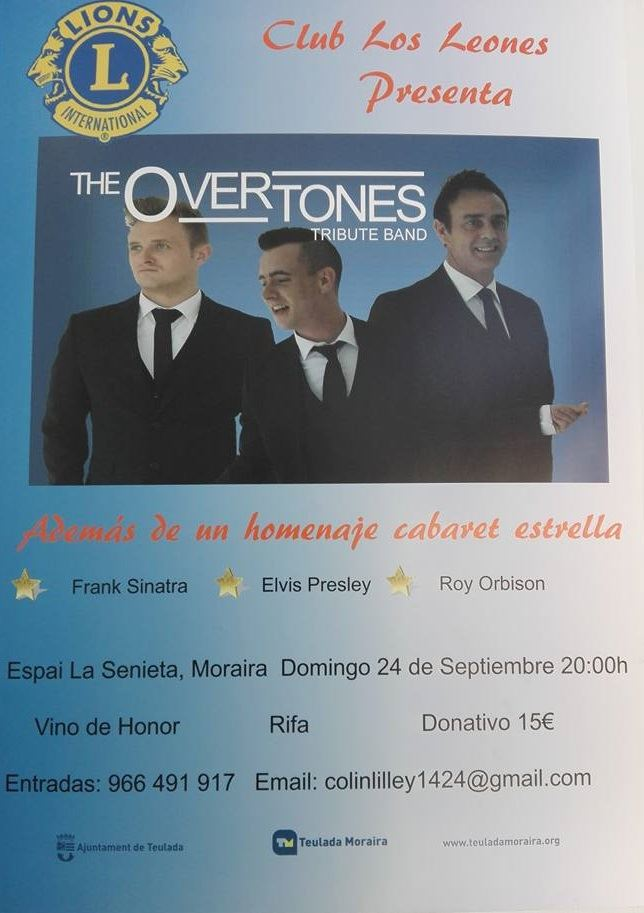 The Overtones Tribute Band Concert in Moraira