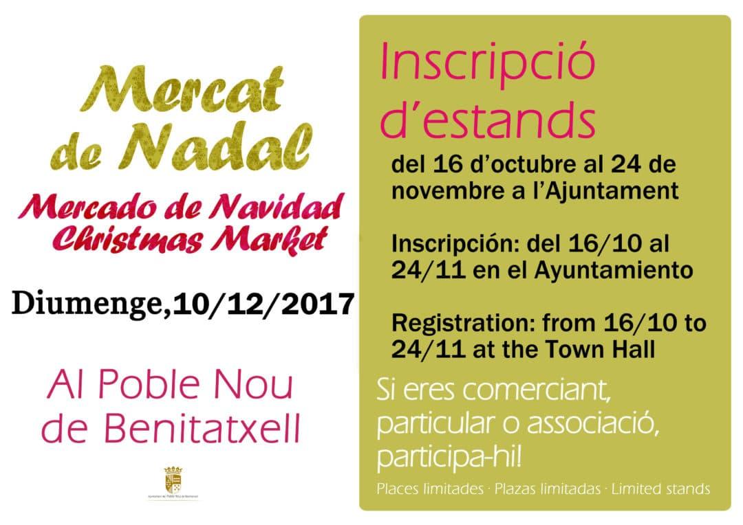 Abierto el plazo de inscripción Mercado Navidad Benitatxell