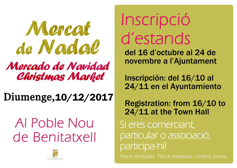 Anmelden für Weihnachtsmarkt!