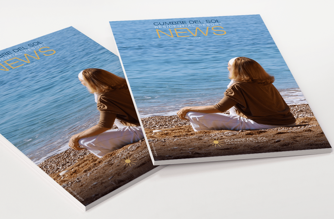 We are launching the second issue of our magazine, Residential Resort Cumbre del Sol
