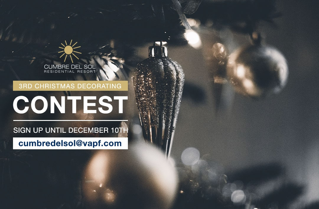 We lanceren onze 3e Kerstversieringswedstrijd bij Residential Resort Cumbre del Sol