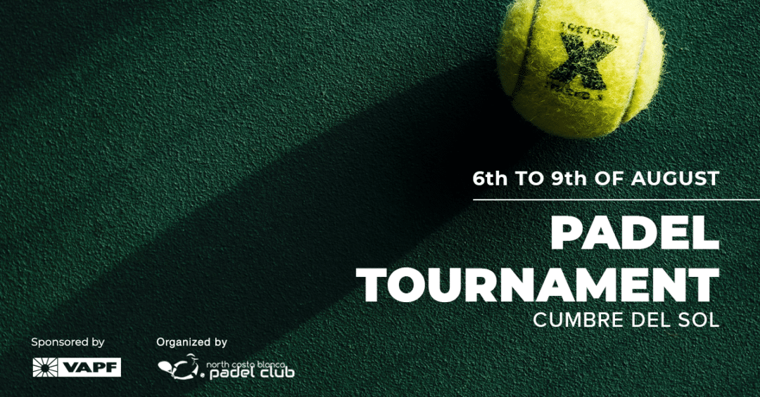 Enjoy your summer by signing up for the Evening Padel Tournament in Cumbre del Sol